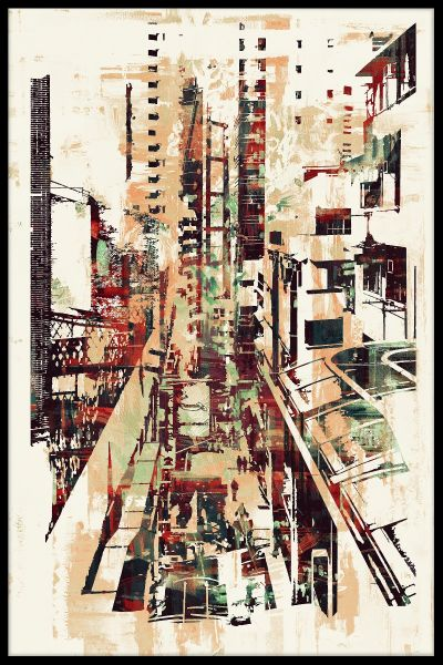 Abstract Cityscape Juliste