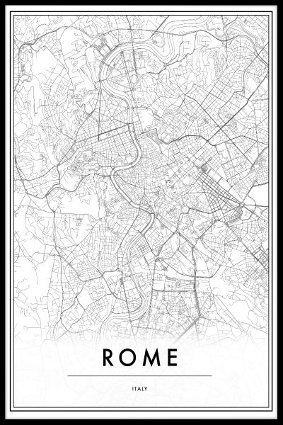 Rome Italy Map Juliste