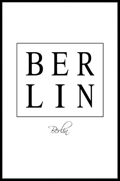 Berlin Box Text Juliste