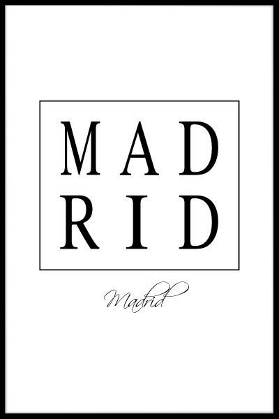 Madrid Box Text Juliste
