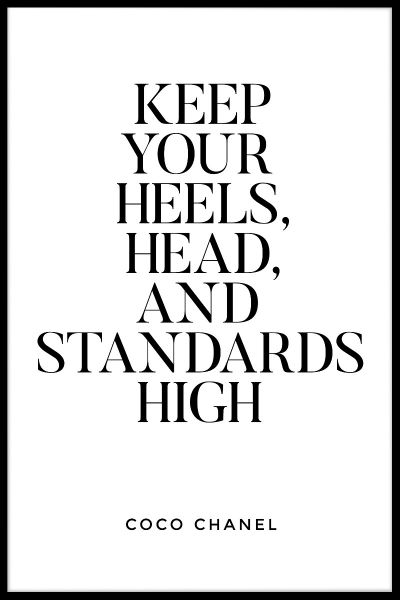 Keep Your Heels Head And Juliste