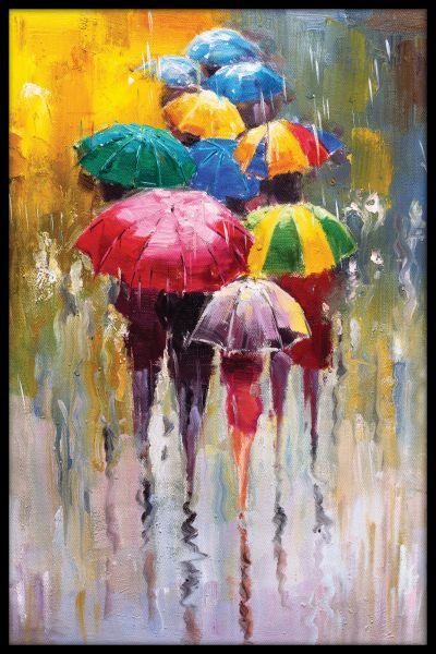 Rainy Day Painting Juliste
