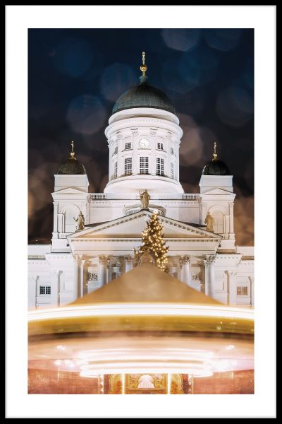 Helsinki Cathedral at Night Juliste