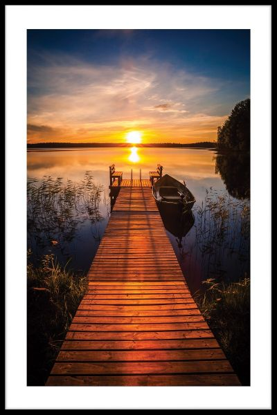 Pier Sunset Finland Juliste