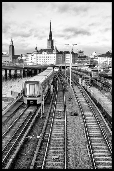 Stockholm Train Tracks Juliste