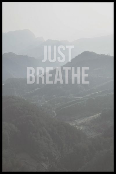 Just Breathe Juliste