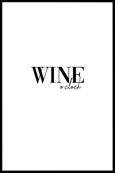 Wine O'Clock Juliste