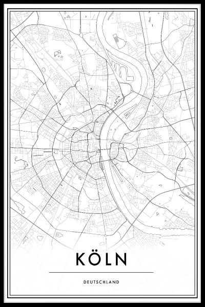 Köln Map Juliste