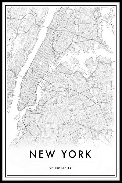 New York Kartta Juliste