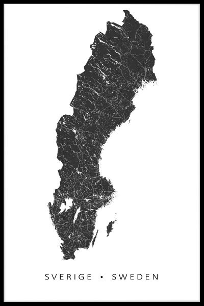 Sweden Map Juliste