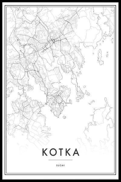 Kotka Map N02 Juliste