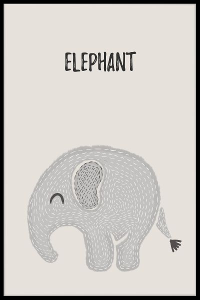 Elephant Kids Juliste