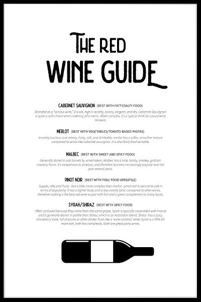Red Wine Guide Juliste