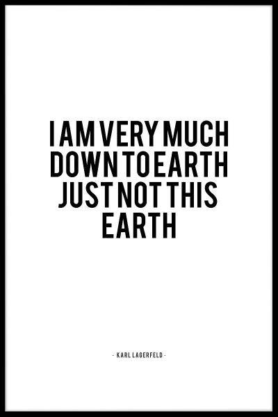 Down To Earth Juliste