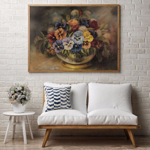 Flower Arrangement Oil Painting Printti