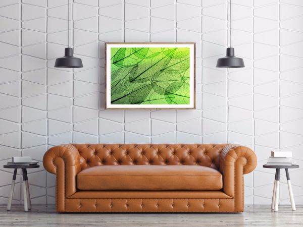 Green Leaves Abstract Posteri