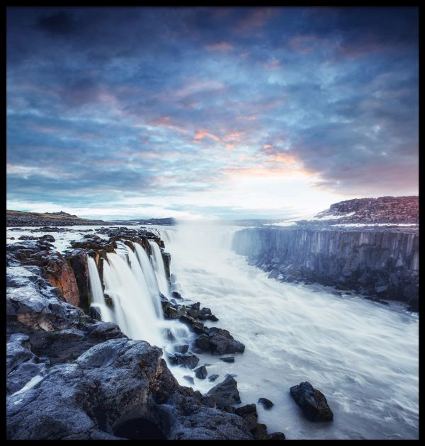 Selfoss Waterfall Juliste