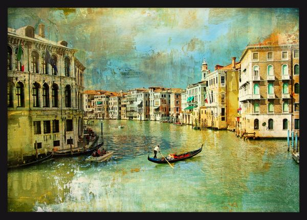 Old Venice Oil Painting Juliste