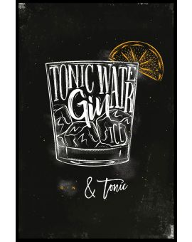 Gin & Tonic Cocktail Juliste