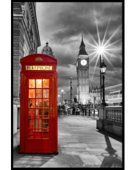 London Phone Booth Westminster Juliste