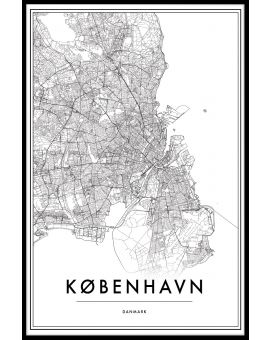 Copenhagen Map  Juliste