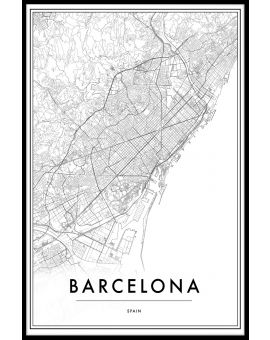 Barcelona Spain Map Juliste