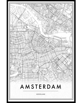 Amsterdam Netherlands Map Juliste