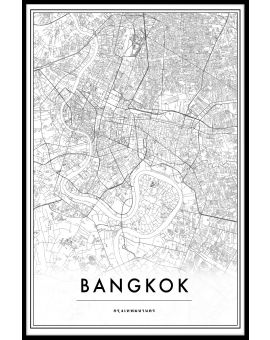Bangkok Thailand Map Juliste