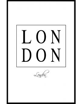 London Box Text Juliste