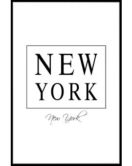 New York Box Text Juliste