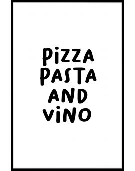 Pizza Pasta And Vino Juliste