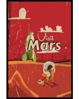 Visit Mars Vintage Travel Juliste