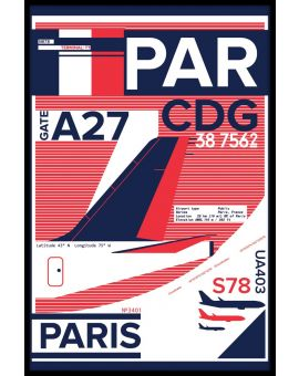 CDG Paris Airport Juliste