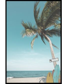 Surf Beach Palm Juliste