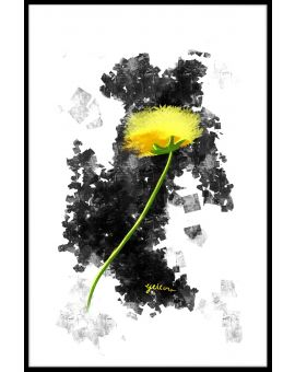 Yellow Flower Graphic Design Juliste