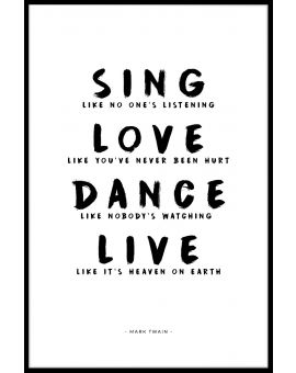 Sing Love Dance Live Juliste