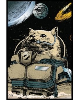 Cat Astronaut Juliste