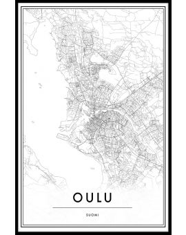 Oulu Map Juliste