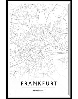 Frankfurt Map Juliste