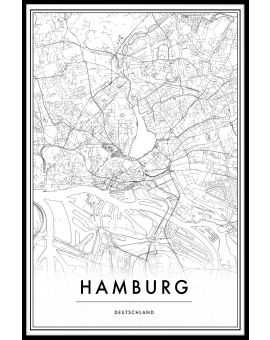 Hamburg Map Juliste