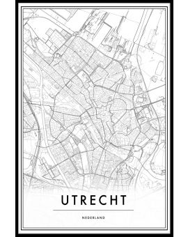Utrecht Map Juliste