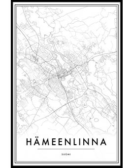 Hämeenlinna Map Juliste