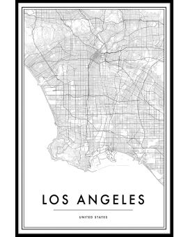Los Angeles Map Juliste