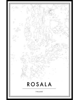 Rosala Map Juliste