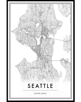 Seattle Map Juliste