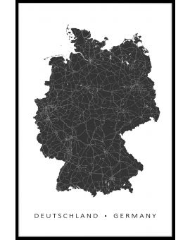 Germany Map Juliste