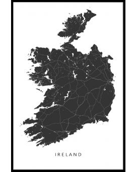Ireland Map Juliste