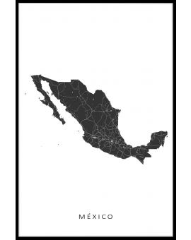 Mexico Map Juliste