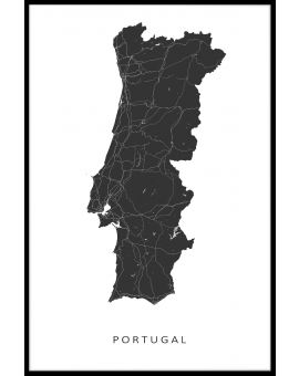 Portugal Map Juliste