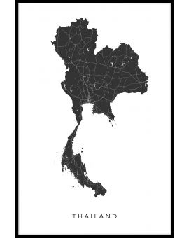 Thailand Map Juliste